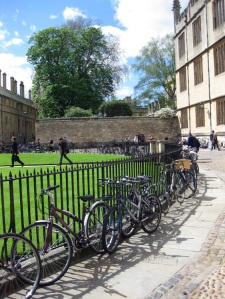Bicycles outside the Radcliffe Camera Oxford